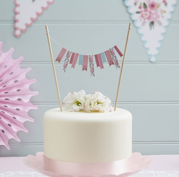Floral Fancy Cake Bunting | GettingPersonal.co.uk