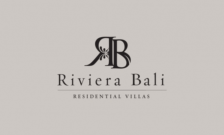 """Love the initials. """"The first logo identity proposed is Riviera Bali. It was taken from the word 'River' but with some chick there so it became 'Riviera'. I used the logogram based from the Initial Riviera Bali, 'RB'. From the word 'R' it created a splash effect as a flowing water at the river. and at the word 'b' created a simplify form of leaf to symbolize the perfect nature for a residential. The dark brown color made the logo rich with the local content and to draw Luxurious."""""""