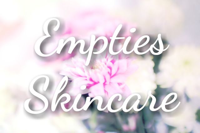Sugar and Spice: Empties - Skincare