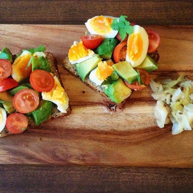 Breakfast Bruschetta from the I Quit Sugar 8-Week Program.