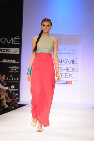 Hot Pink Color Block Dress. SHOP THE LOOK AT http://www.payalsinghal.com/off-the-runway/hot-pink-color-block-dress