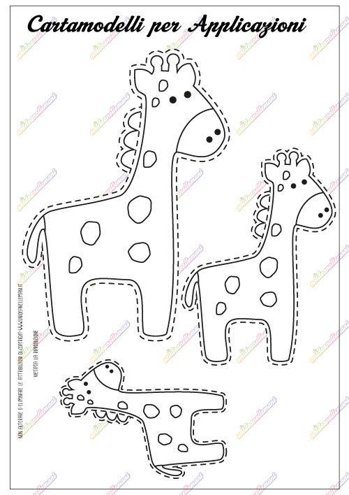 Cartamodello Giraffa Da Stampare Cartamodello Bavaglini Pinterest