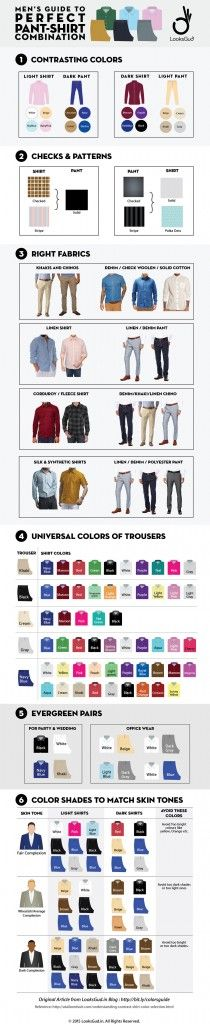 mywebroom blog visualistan male fashion pant shirt combination style infographic