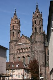 Worms Cathedral (Wormser Dom) - West Front.  Worms, Germany. Begun 1125.