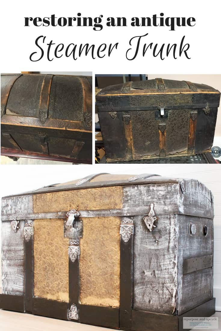 Restoring An Antique Steamer Trunk Antique Steamer Trunk Steamer Trunk Trunk Makeover