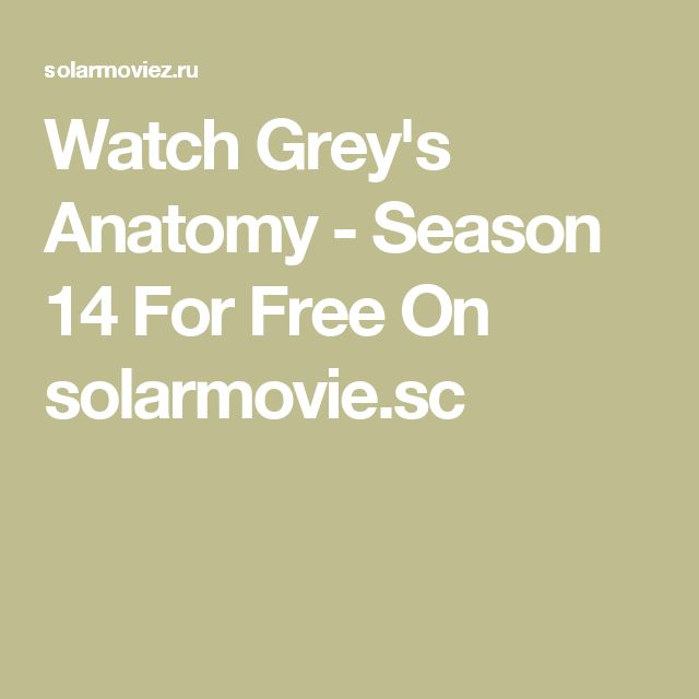 Watch Grey's Anatomy - Season 14 For Free On solarmovie.sc