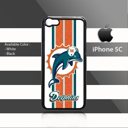 Miami Dolphins Texture stripes iPhone 5c Rubber Case Cover