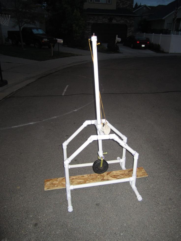 PVC Trebuchet I Built This Trebuchet As A Summer Project