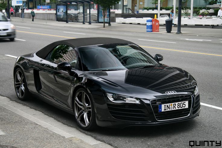 "Black Audi r8 spyder. ""I like the car. You like the car. I've fucked you in it. Perhaps I should fuck you on it."" -Christian Grey"