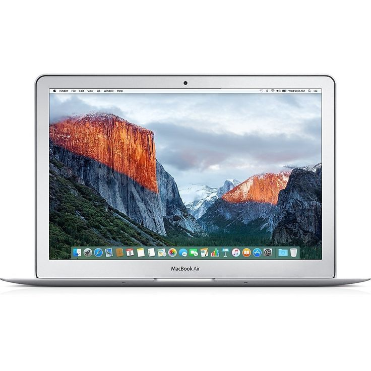 Apple MacBook Air 13-inch Laptop (1.6GHz Core i5,4GB RAM,128GB SSD, early 2015). 13.3-Inch (diagonal) LED-backlit Glossy Widescreen Display, 1440 x 900 resolution; Intel HD Graphics 6000 1.6GHz dual-core Intel Core i5 (Turbo Boost up to 2.7GHz) with 3MB shared L3 cache 4GB of 1600 MHz LPDDR3 RAM; 128 GB PCIe-based flash storage; Mac OS X El Capitan (or upgrade) 802.11ac WiFi; Bluetooth 4.0; Two USB 3.0 ports; One Thunderbolt 2 port 720p FaceTime HD camera