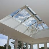 Orangery with roof lantern and chandelier! How posh