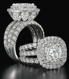 Charles Elliott Krypell diamond ring. ~ 35 Stunning Pieces of Jewelry - Style Estate -