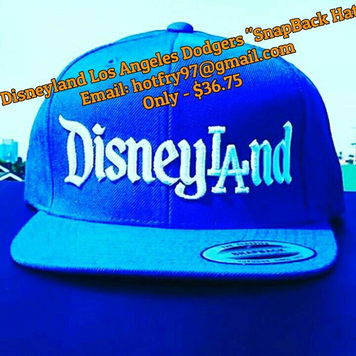 """BUY IT NOW""... ONLY -- $36.75 ... New ""DISNEYLAND FANS / LOS ANGELES DODGERS FANS""""SNAPBACK HATS""...  NOW SHOW YOUR LOVE FOR THE L.A. DODGERS and DISNEYLAND ... JUST EMAIL ME AT : ( hotfry97@gmail ) TO GET YOURS TODAY ....  #Disneyland #WaltDisneyWorld #WDW #MLB #LosAngelesDodgers #Dodgers #DodgerStadium #DodgerBlue #STARBUCKS  #LosAngeles #MagicJohnson #StaplesCenter #DLR #DisneylandAnnualPassHolder"