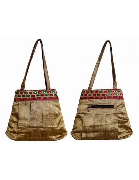 Golden Brown Hand Bag Item code : FHD112  http://www.bharatplaza.com/ready-to-ship/home-decor/golden-brown-hand-bag-fhd112.html https://www.facebook.com/bharatplazaportal https://twitter.com/bharat_plaza