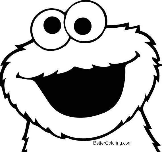 Cookie Monster Face Coloring Pages Monster Coloring Pages Monster Cookies Cookie Monster Birthday