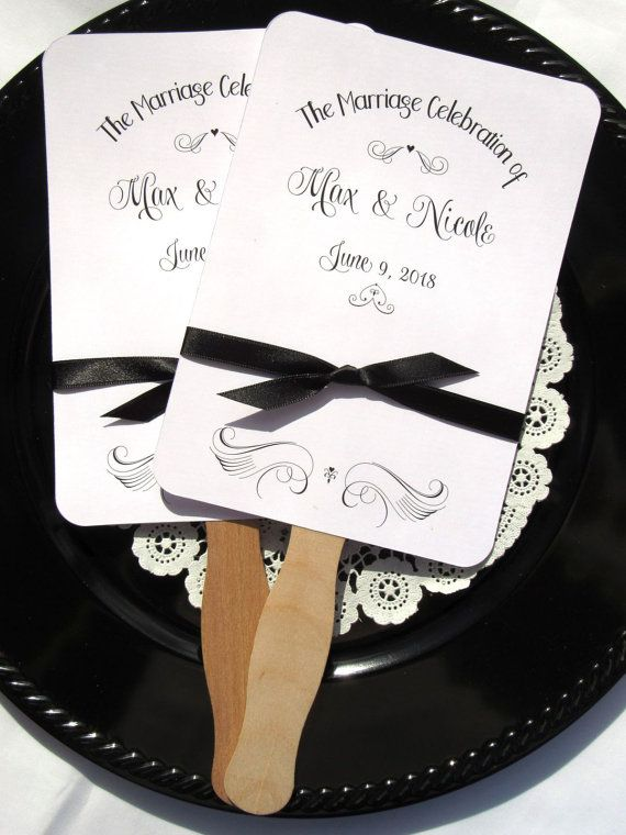 Unique Wedding Fans | Outdoor Wedding | Beach Wedding | Summer Wedding | by Abbey and Izzie Designs