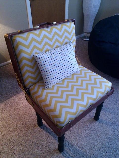 My handmade Vintage suitcase chair