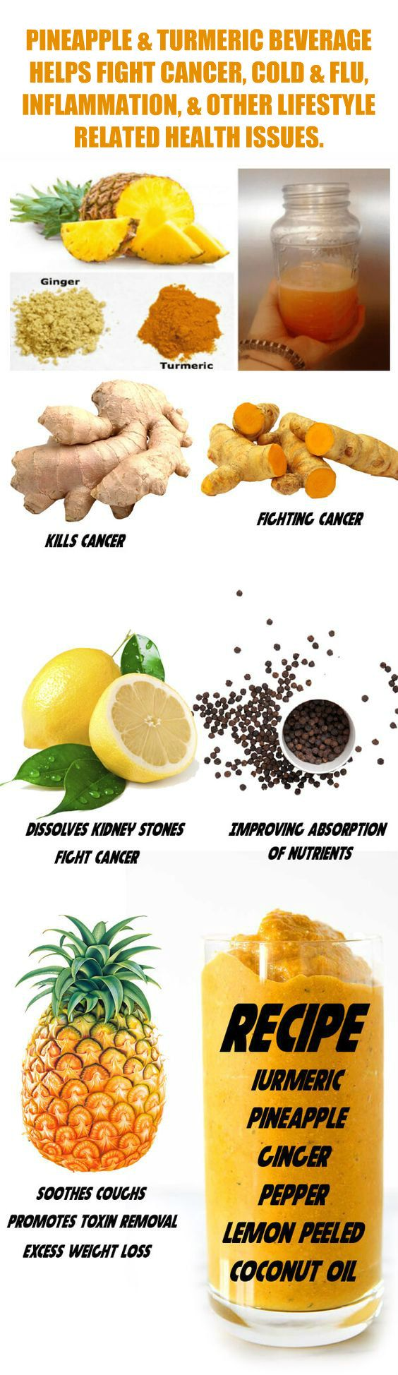 Pineapple & Turmeric Drink Health Benefits. Learn about alkaline rich Kangen Water; it's antioxidant loaded, hydrogen rich, ionized water that neutralizes free radicals which cause oxidative stress that can lead to disease such as cancer. Many medical exp http://www.buzzblend.com