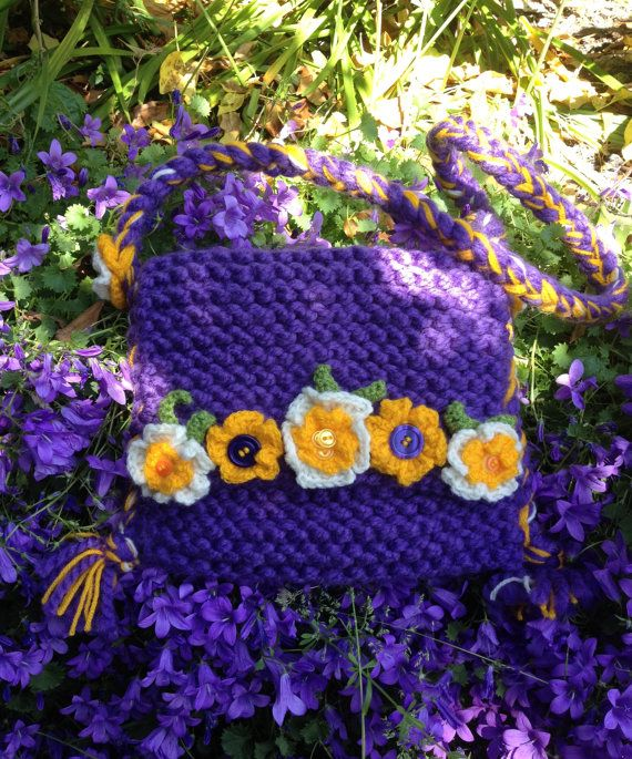 Purple Hand-Made Festival by FluffyFrecklesKnits on Etsy