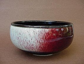 Contemporary red under glaze copper bowl by Alan Viglan: Ceramic Pottery, Pottery Ceramic Bowls, Copper Iron Glaze, Pottery Bowls, Glaze Copper, Ceramic Copper Iron