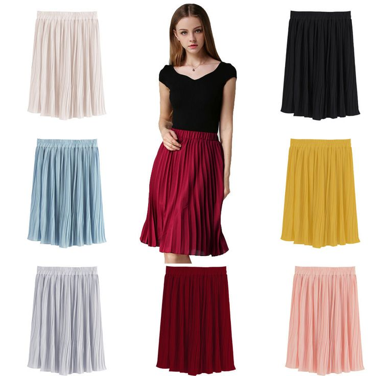 Elegant Skirt Vintage Double Chiffon Style European Casual Pleated Tulle Kawayi