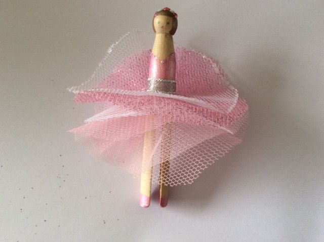 Handmade beech wood peg doll fairies by MaidbyMarion on Etsy