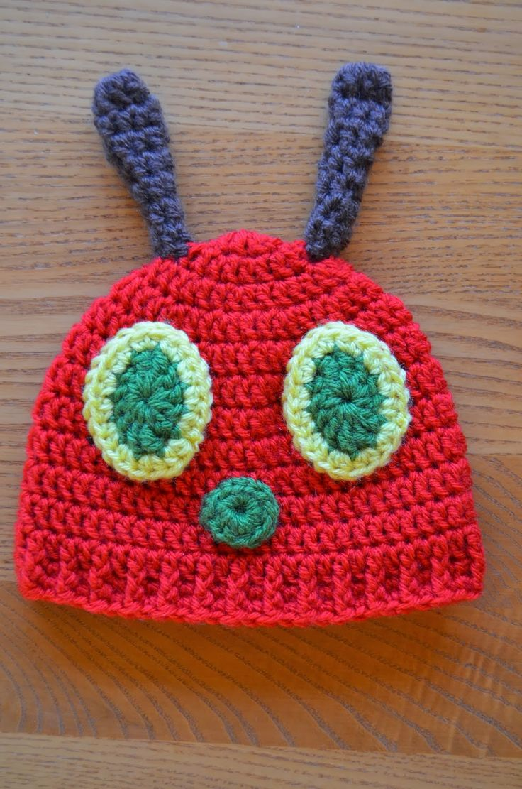 FREE Pattern by Hand Me Down Hobby: Hungry Caterpillar Baby Hat