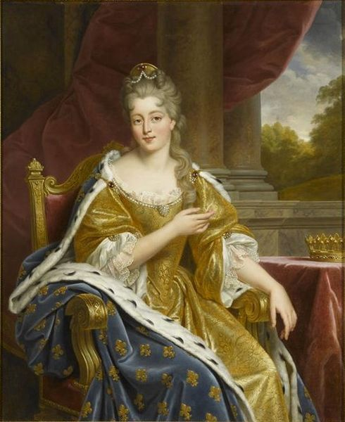 Françoise Marie de Bourbon (1677-1749), illegitimate daughter of king Louis XIV of France, duchess of Orléans | Alexandre-François Caminade (1834, Posthumous portrait painted in the reign of Louis Philippe King of the French - her great great grandson)