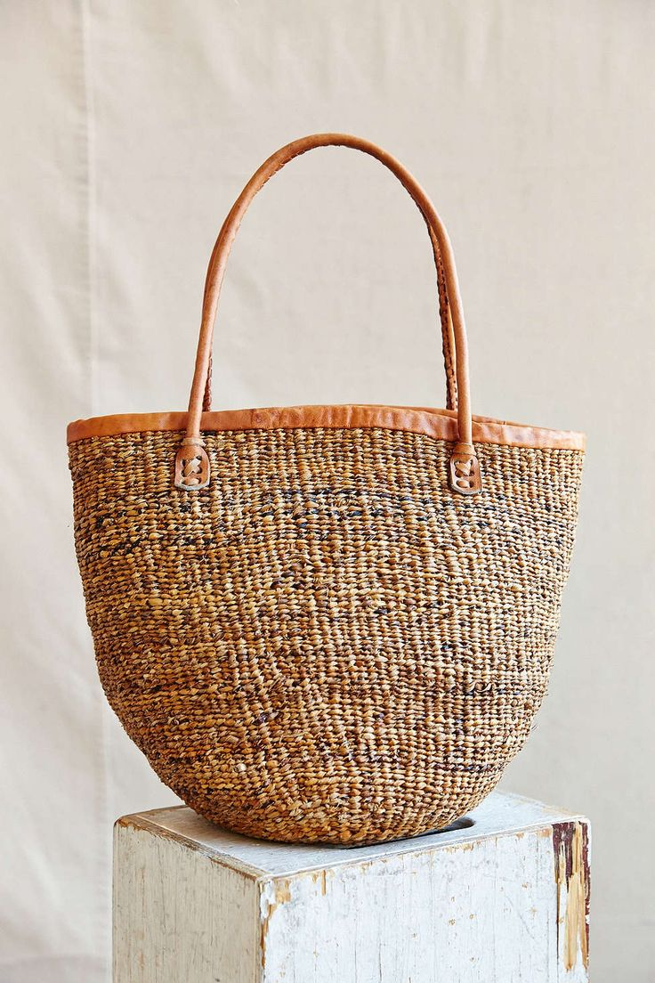 best bags images on pinterest  basket weaving woven baskets  - swahili african modern basket weave sisal tote bag