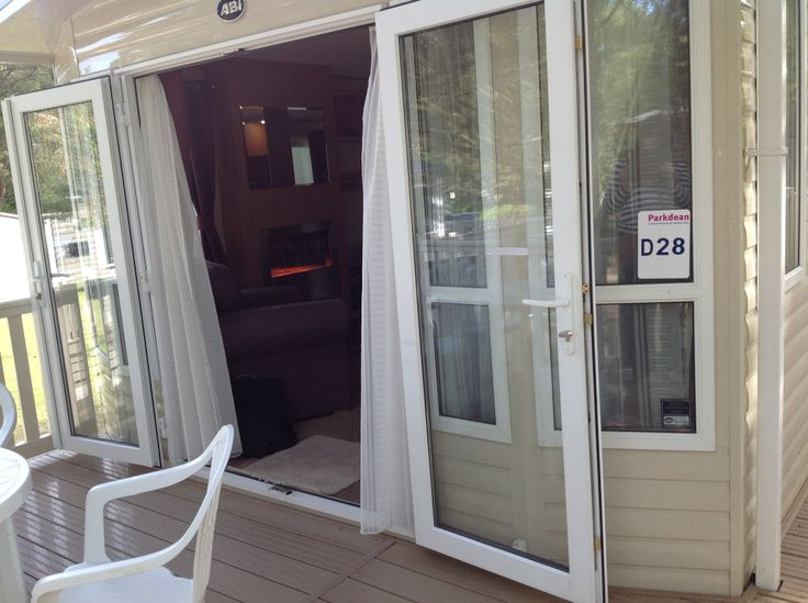 looking in through the french doors of the Ashmore plus D28. @Parkdean Page Page Sandford Holiday park #britishholiday #homeoraway