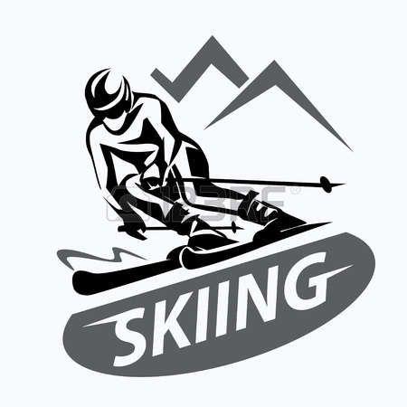 Картинки по запросу лыжи вектор