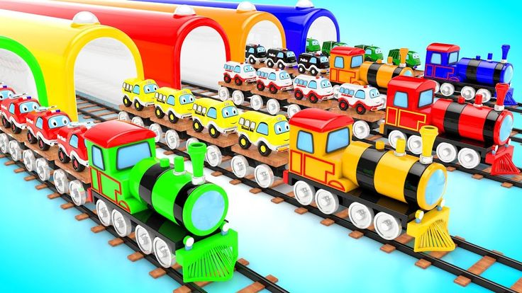 Learn Colors for Children with Toy Trains Street Vehicles Kids Learning ...
