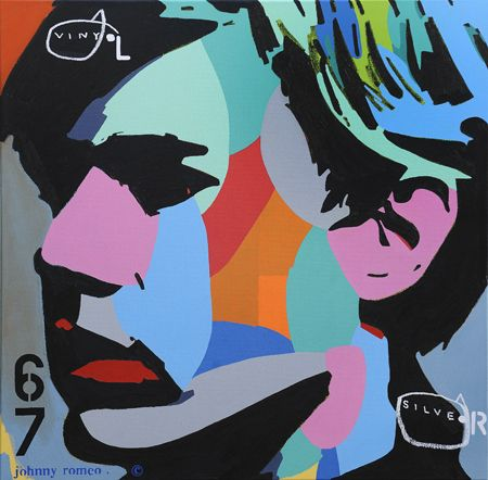Johnny Romeo  Vinyl Silver - 2013   Acrylic and oil on canvas   101 x 101 cm