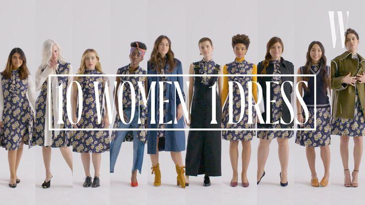 コーディネートの参考に10人の女性が同じプラダのドレスを着てみたら