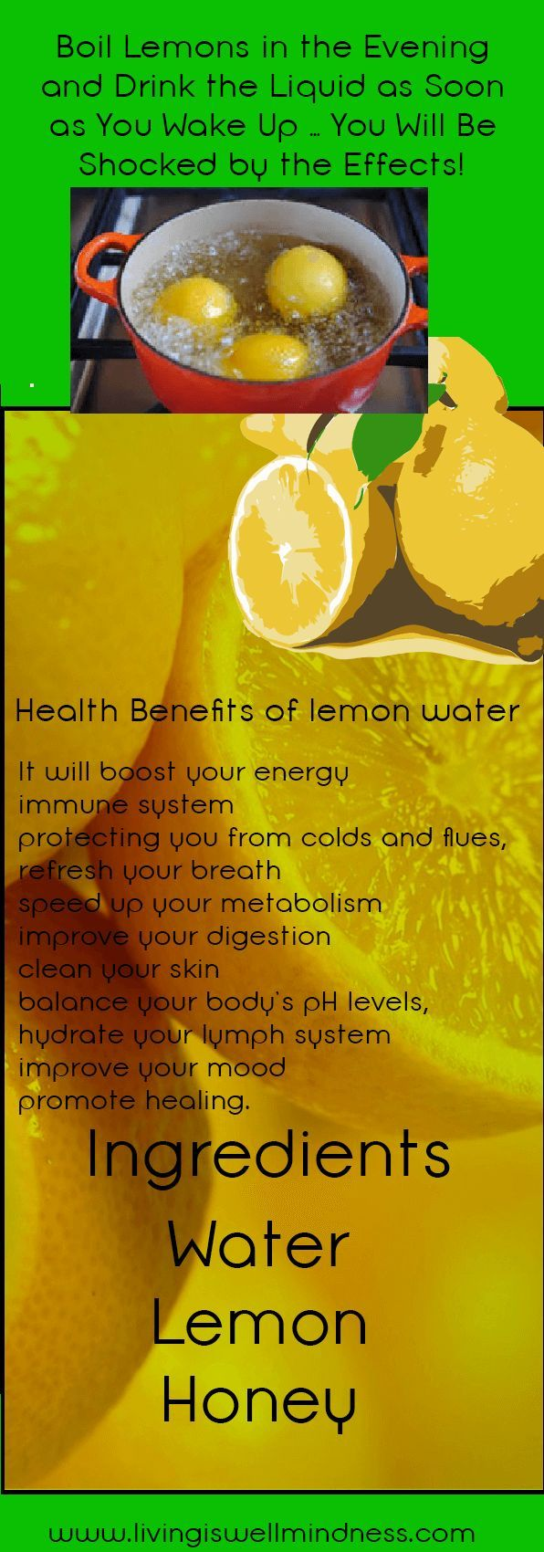 Boil Lemons in the Evening and Drink the Liquid as Soon as You Wake Up ... You Will Be Shocked by the Effects! - Living Wellmindness