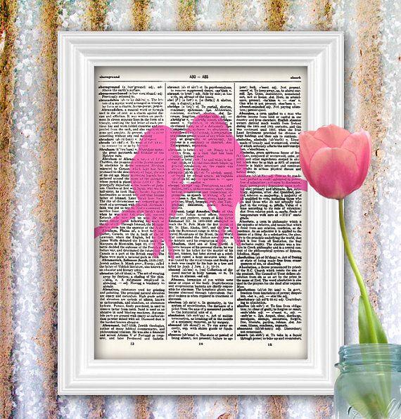 Lovebird Art Print Bright Spring Colours by ThePrintedMenagerie. , via Etsy.