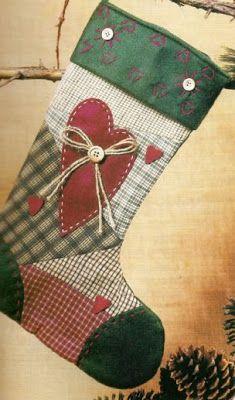 Una bota navideña muy sencilla de hacer. decoraciones navideñas OjoconelArte.cl |
