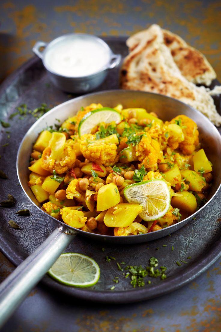Kukkakaalia ja perunaa intialaisittain | K-ruoka #vegaani