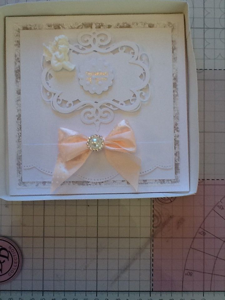 This is a hinged card made using grand squares
