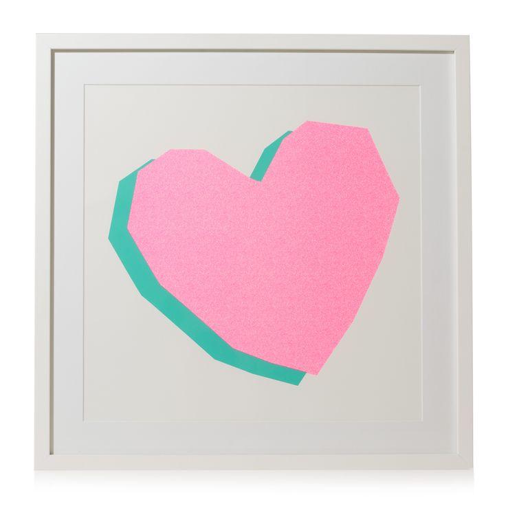 Buy Neon Heart Framed Wall Art from Oliver Bonas