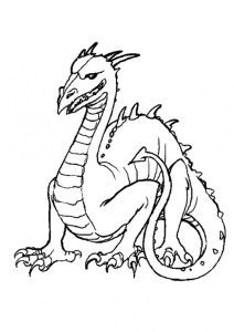 printable horror dragon coloring pages for kids to colour in - Things To Colour In