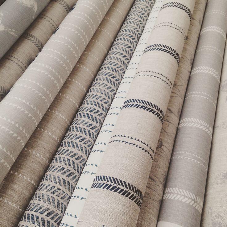 So many ways to blend our Zoe Glencross linens..., #interiors #fabric #linen #grey #grey fabric