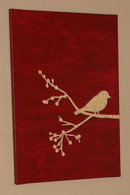 ideas canvas art bird art arts crafts craft paint white paper forward. Black Bedroom Furniture Sets. Home Design Ideas