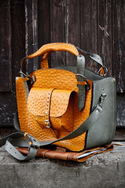 Leather Shoulder Bag with Clutch Set and the elong from LADYBUQ by DaWanda.com