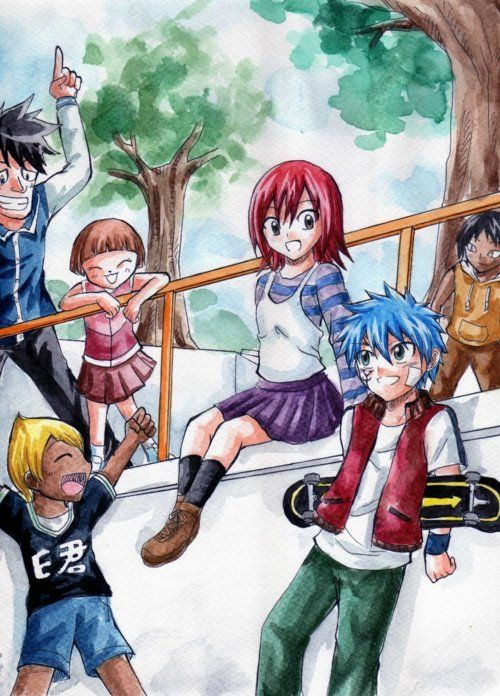 Jellal Fernandes,Erza Scarlet,Millianna,Wally Buchanan,Simon,Sho - Fairy Tail,Anime
