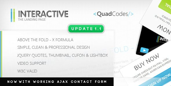 Interactive - The Landing Page Business Corporate Template. Live Preview & Download: http://themeforest.net/item/interactive-the-landing-page/142680?s_rank=677&ref=yinkira