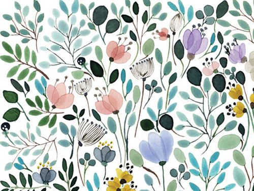 Anna Emilia- this would be beautiful wallpaper in a powder room or bathroom