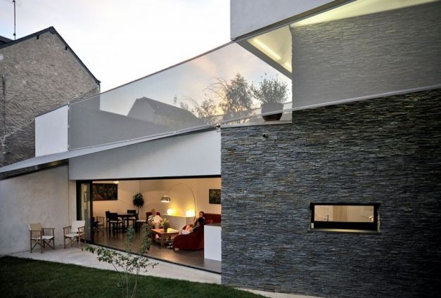 Fertile house with roof herb garden in tours france by mu architecture