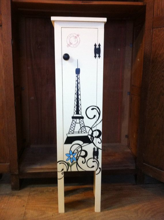 Paris Decor Eiffel Tower Cabinet by CoalCountryGathering on Etsy, $125.00