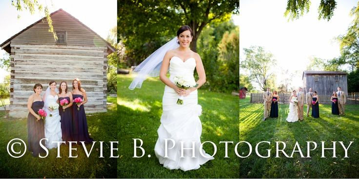 This wedding was photographed by Stevie B. Photography from last fall at Cobblestone Farm outside the barn. www.a2gov.org/cobblestoneFarms Wedding, Farm Wedding, Cobblestone Farms